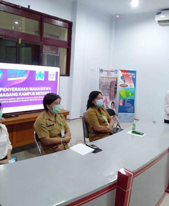 Penyerahan Mahasiswa Magang Program Kampus Merdeka Jurusan Sastra Inggris di Dinas Pendidikan Daerah Provinsi Sulawesi Utara