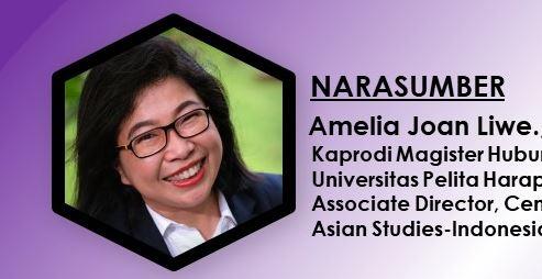 Kuliah Umum Amelia Joan Liwe., Ph.D. Selasa, 15 Juni 2021