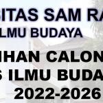 Pendaftaran Bakal Calon Dekan Fakultas Ilmu Budaya Periode 2022-2026